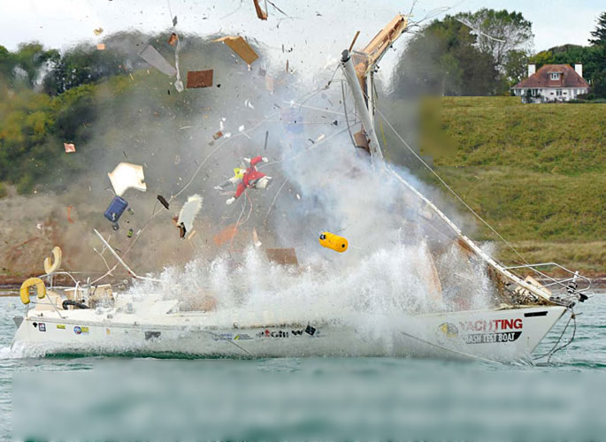 взрыв газового баллона на яхте