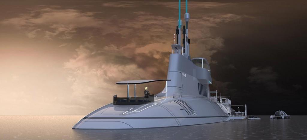 yacht submarina migaloo
