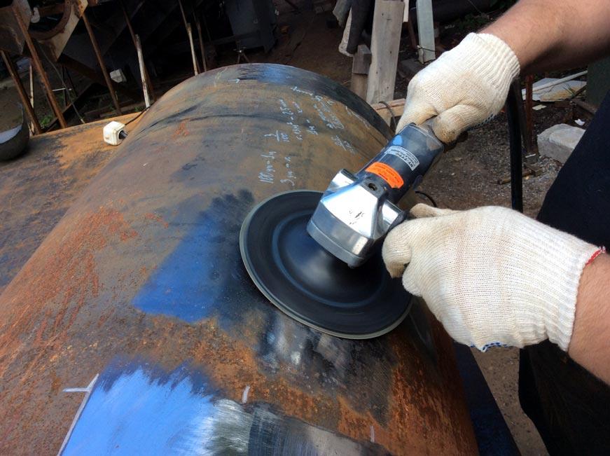 зачистка стали перед металлизацией металлизатором эм-14м