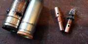 разрушенный эжектор горелки полуавтомата