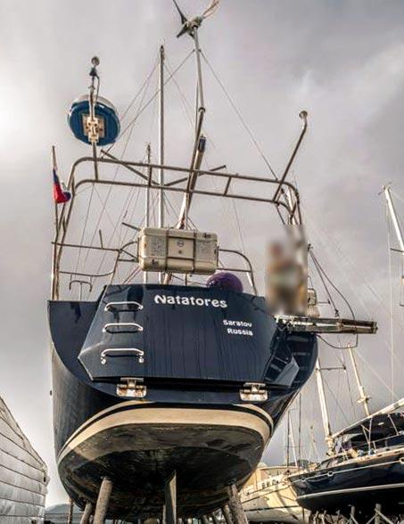 яхта natatores - кормовая площадка