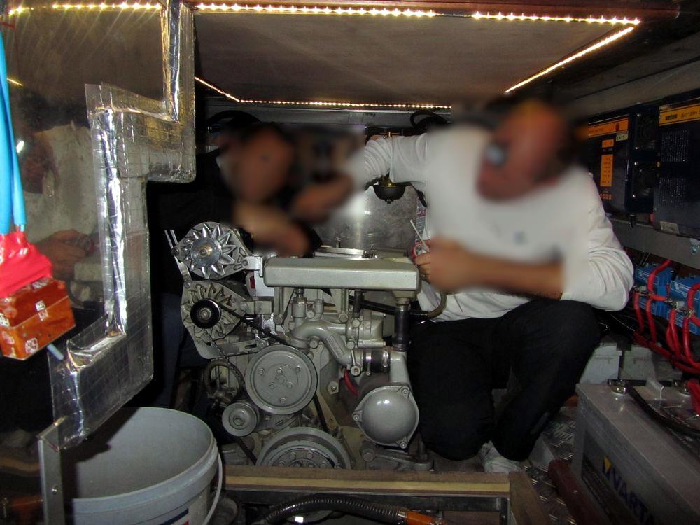 яхта natatores - машинное отделение