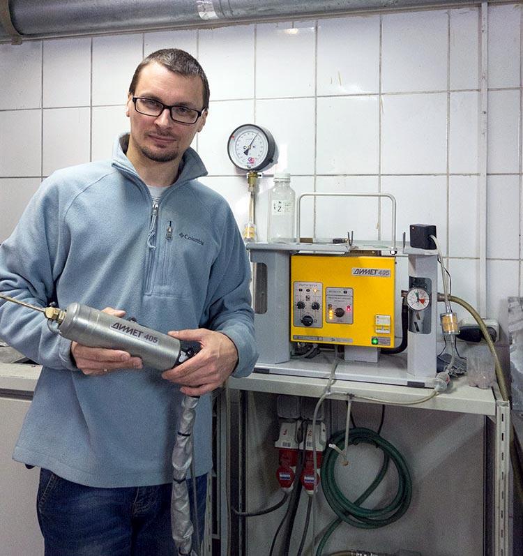 Тестирую оборудование для напыления цинка Димет