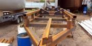 телега для большой яхты
