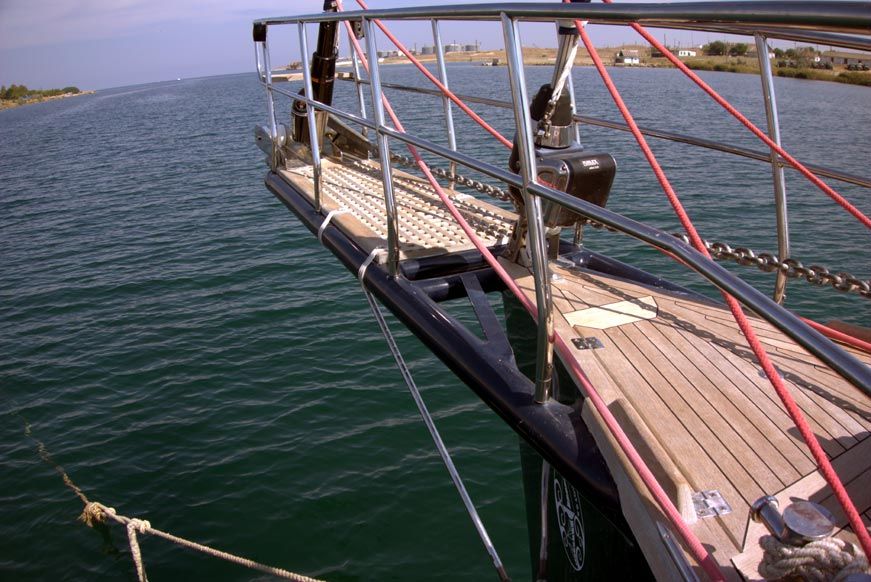 бушприт яхты natatores