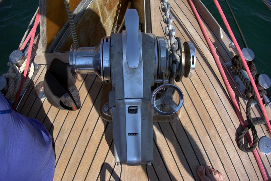 якорный шпиль яхта Нататорес