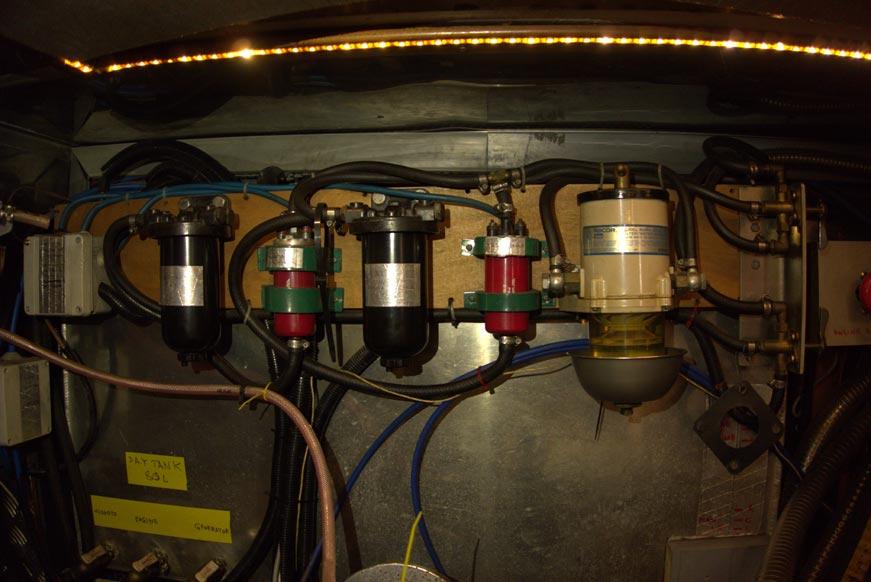 система фильтрации топлива на яхте Нататорес