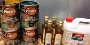 компоненты для пропитки- pinotex, уайт-спирит и льняное малсо