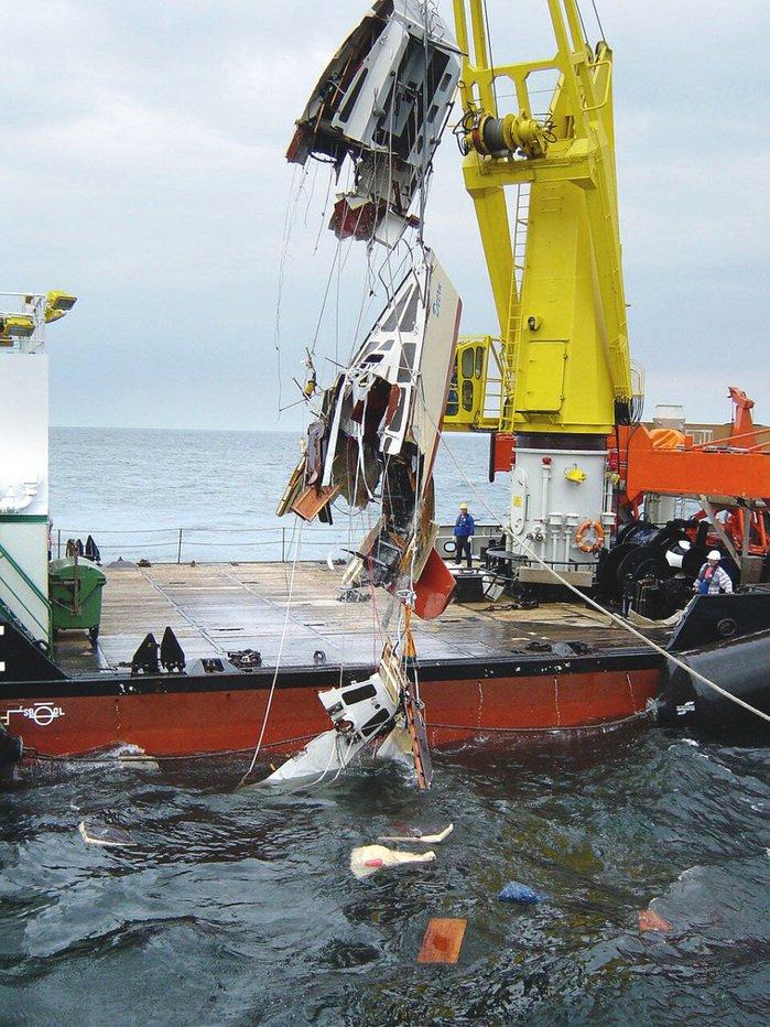Крушение немецкой яхты Deern