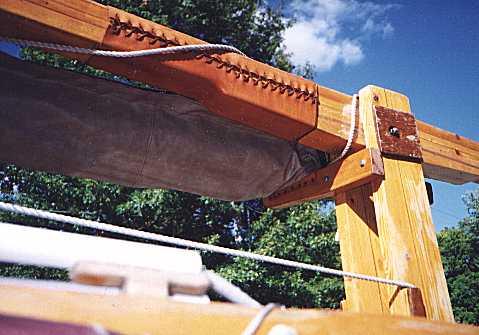Пасынки для заваливания деревянной мачты