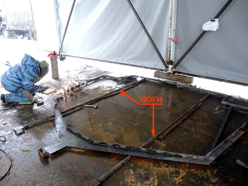 шпангоут с ногами для установки на плаз